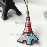 eiffel logo custom shapes pvc and microfiber cloth material mobile phone screen cleaner strap