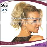 Synthetic chignon twist up body wave hair piece supplier