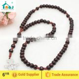 A&J Wood Bead 7 Decade Cord Rosary with San Damiano Franciscan Crown Cross Crucifix                                                                         Quality Choice