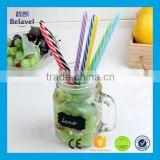 High quality straight 23cm straw with button pp plastic drinking straws                                                                         Quality Choice