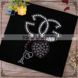 New design custom t-shirt crystal self adhesive rhinestone letters                                                                                                         Supplier's Choice