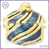 handmade enameled metal corner bead for Jewelry