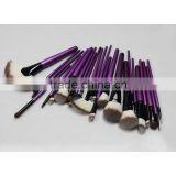 24pcs wholesale new professional cosmetic brush high quality purple color makeup brush set foundation brush