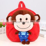 New cartoon monkey backpack animal soft cute small bags plush doll kids school bag baby bags