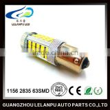 led driving car light 1156 1157 2835 63SMD BA15S bay15d 2835 led auto stop light led lamp