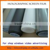 Holographic screen film rear projection self adhesive for shop windows glass video advertising all 4 colors available