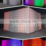 2013 Newest design Inflatable lighting tent for party / inflatable cube tent with lighting