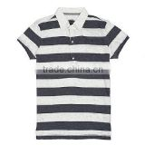 wholesale polyester cotton custom white black striped boys polo shirt wholesale