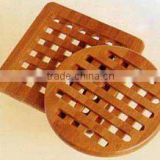 wholesale Custom Wooden Coaster bamboo roller coaster for kitchen