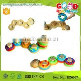 Cute Caterpillar 4 Column Stack Shape Sequence Sorting Set, 2 years up Identify Colors and Shapes