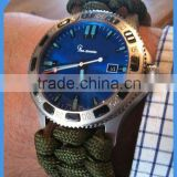 Men's Sport Quartz Blue Dial Two Tone Watch