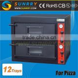 Professional kitchen equipment high efficiency 2 decks bread oven used industrial pizza baking oven for hotel & restaurant