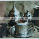 coffee glass prints wall arts decor with gold foil luxury