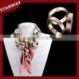 Hot selling fashion three ring scarf pin brooch/