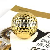 China OEM factory hardware luxury gold-plated golf ball