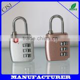 2016 New design authorised professional colorful safe zipper lock 3 digits zinc alloy tsa locks                                                                                                         Supplier's Choice