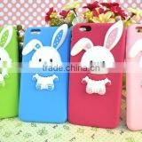 New arrival Customize 3d silicone phone case,embossed logo rabbit ear phone case for iphone 6/iphone 6s