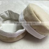 cotton fabric bread basket and samll towel set made in China