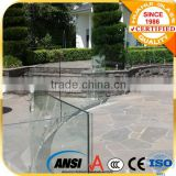 outdoor glass railing for garden, porch, balcony with America, Canada, Germany, British export standard
