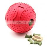 CUSTOM Dog Snacks Ball Toys/ Pet Rubber Snack Ball/2015 newest style Snack Pet Ball