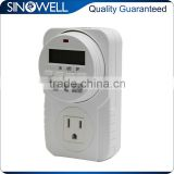 Multifunctional 7-day Weekly Programmable Grounded Digital Electronic Timer Switch