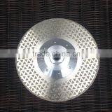 Electroplated Diamond Vanity Blade 7 inch (180 mm) with M14 Flange Pyramid Design Double Sided for Marble Limestone Cutting