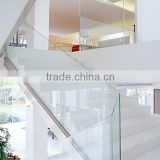 outdoor stairs shoe molding glass railing                                                                         Quality Choice