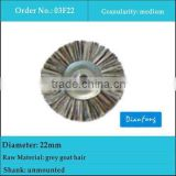 22mm unmounted dental laboratory grey goat hair brushes for composite materials