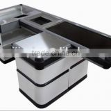 Supermarket Checkout Counter with Conveyor Belt, Electric Cashier Counter with Belt, Hot Selling Cashier Table
