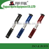 Bicycle pump with hiding air tube inside sports equipment body fitness