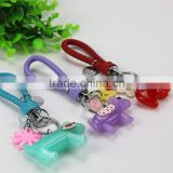 Custom logo high quality leather keychain mini animal acrylic keychain                                                                                                         Supplier's Choice