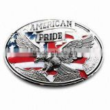 Decorative american flag belt buckle flag