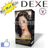 permanent hair dye dexe hair color cream with 12 colors