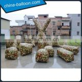 exciting inflatable paintball bunker,inflatable air bunker,colorful inflatable air barrier for outdoor games