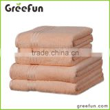 High Quality Light Orange Luxury Bath Towel Set 100% cotton 5 star soft hotel towels / bath towels / towel sets