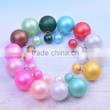 Fashion new arrival candy color imitation big pearl earrings women's jewelry beautiful stud earrings