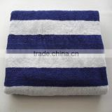 Blue And White Terry Beach Towel Large Size Pool Towel