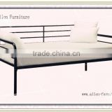 New Style Modern Single Black Metal Indoor Daybed /Metal Slat Base/metal sofa bed cheap with high quality