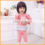 baby girls fall suit long sleeve new design with appliqued