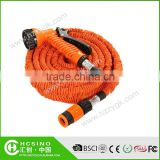 Rubber water hose for car washing,garden water hose with universal faucet and high spray nozzle