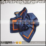 2016 Customized Design Digital Printing Woven Square Scarf to Match the airline uniforms