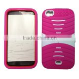 cellphone pc silicone comb case for BLU life View L110 with kickstand