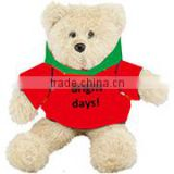 embroidery imprinted promotional logo red coat Hoodie Bear dress scarf beanbag bandana t-shirt bib tie ribbon animal toys