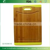 TFGJ003/SGS eco-friendly silicone breast plate/wholesale customized laminated kithen utensil for dinner bamboo board