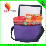 Hot Sales 2015 For Promotion Imprint Logo Nylon Or Non Woven Insulated Folding Chair With Cooler Bag