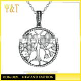 Jingli Jewelry 925 Sterling silver Material Jewelry tree of life pendants, family tree necklaces(AN-004)