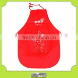 custom-made water-proof red plastic apron pvc apron kitchen apron