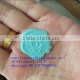 light blue aluminum wax seal sticker, embossed aluminum wax seal label,wax seal tag for wine packaging