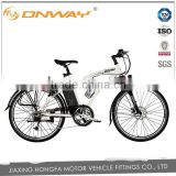 "26"" man trekking electric bicycle center motor 36V 9AH li-ion battery inside"