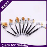 New Fashion High Quality Hot Sale Popular 9Pcs Synthetic Hair Golf Oval Makeup Brush Set